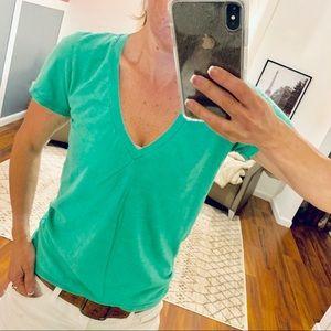 j Crew Vintage Cotton Green T-Shirt XS